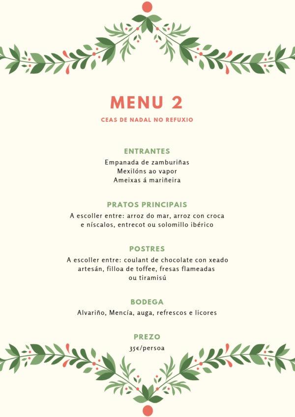 menu de Nadal